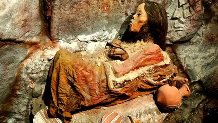 Juanita is a mummy found near Arequipa, Peru. Her discovery lead to unique insights into the Inca ritualistic practice of human sacrifice. Her remains are on display today in Arequipa, Peru for most of the year.