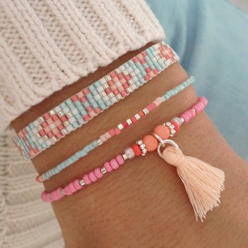 Indian Pastel Bracelets http://bijouxcreateurenligne.fr/product-category/bracelet-fantaisie/