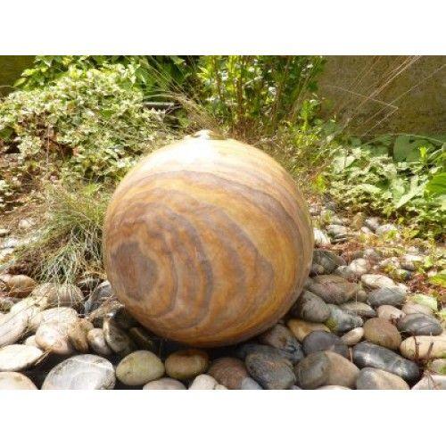 Rainbow Sandstone Drilled Sphere Water Feature 35cm, 40cm, 50cm