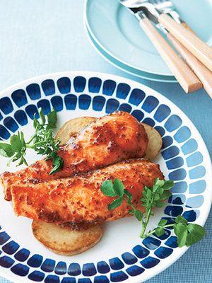 【ELLE a table】サーモンのハニーマスタード照り焼きレシピ エル・オンライン