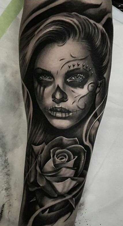 Celebrate Life and Death With These Awesome Day of the Dead Tattoos – Heiko L.