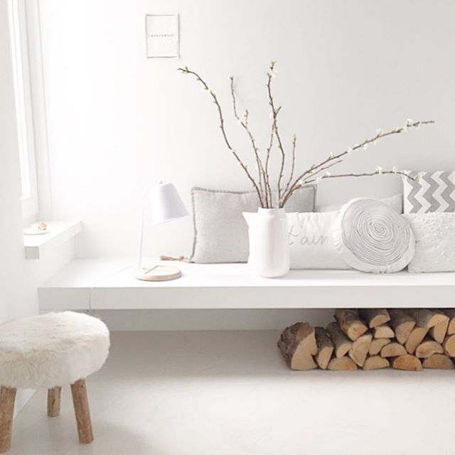 Bench #white #neutral #wood