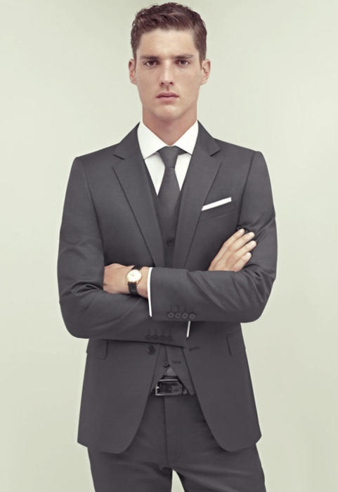 Doing the gray suit right.  Modern cut and material avoids looking dated or boring, which is always a risk with gray.