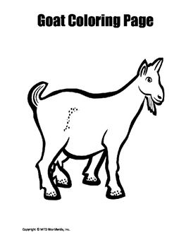 Alpine Goat Coloring Pages Worksheet U0026 Coloring Pages Animal Printouts  Enchanted Learning Alpine Animals Coloring Sheets