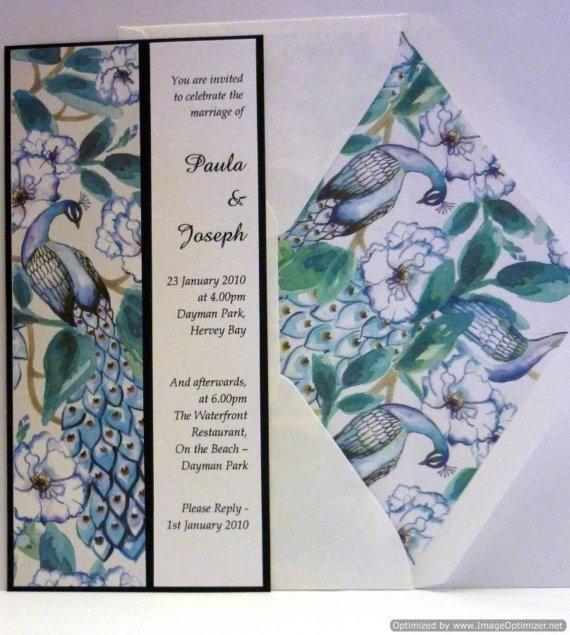 Peacock Palace wedding invitation