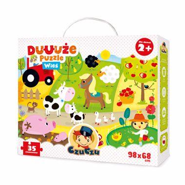 Czuczu: Puzzle dla najmłodszych: Duuuże puzzle wieś