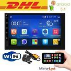 "Quad Core Android 5.1 7"" Double 2DIN Car Radio Stereo MP5 Player WIFI GPS Camera"
