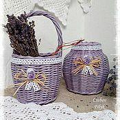 Для дома и интерьера ручной работы. Ярмарка Мастеров - ручная работа Плетеный набор ` Lavender `. Handmade.