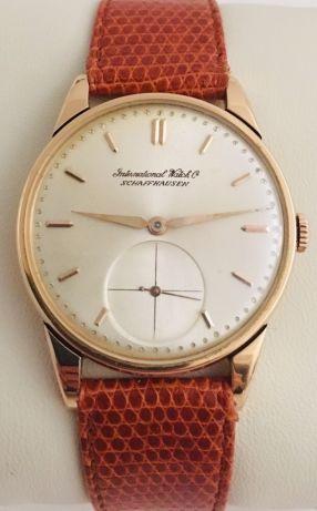 5b55c3943a91 IWC Schaffhausen vintage-ouro 18K- Anos 50s como novo Belém • OLX Portugal  Relojes
