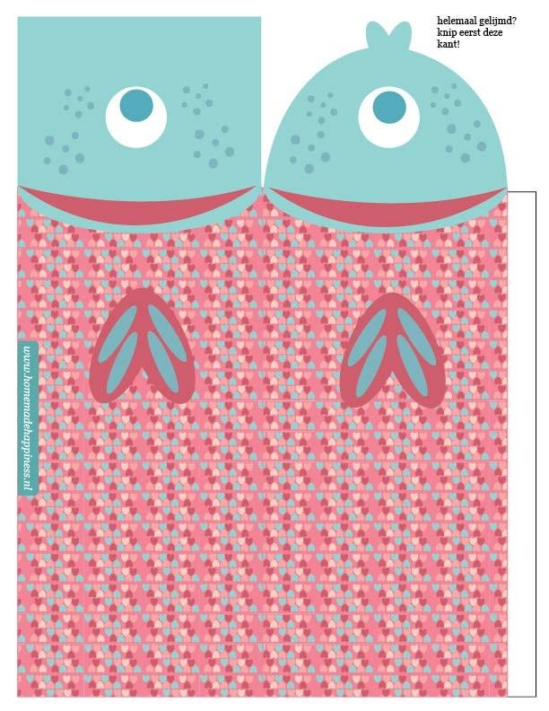 traktatie vis gezond zoet zeemeermin printbaar knipvel