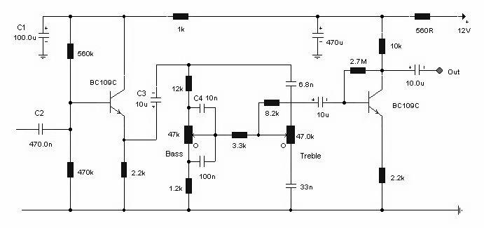 Schematic Of Simple Tone Control Circuit Simple Schematic Collection Circuit Tones Control