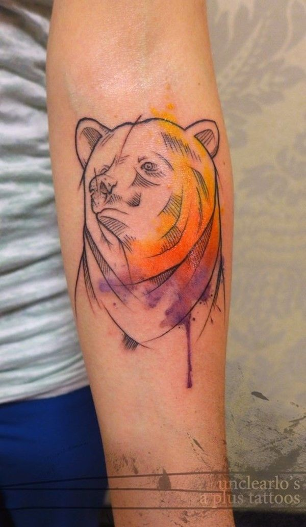 150 Cute Bear Tattoos And Their Meanings cool  Check more at https://tattoorevolution.com/bear-tattoos-meanings/
