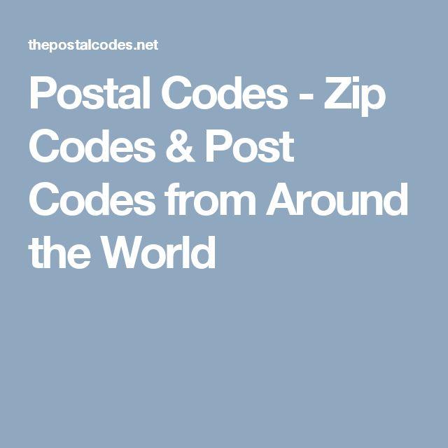 Postal Codes - Zip Codes & Post Codes from Around the World