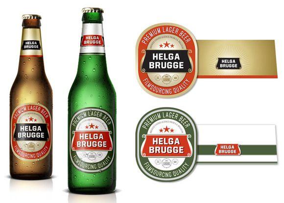Fake Beer Label by Filmsourcing on Creative Market