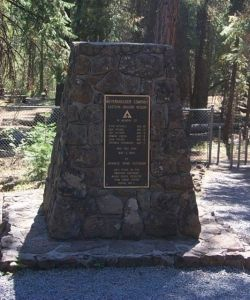 Monument to balloon bomb victims near Bly, Oregon. (Credit: U.S. Forest Service)