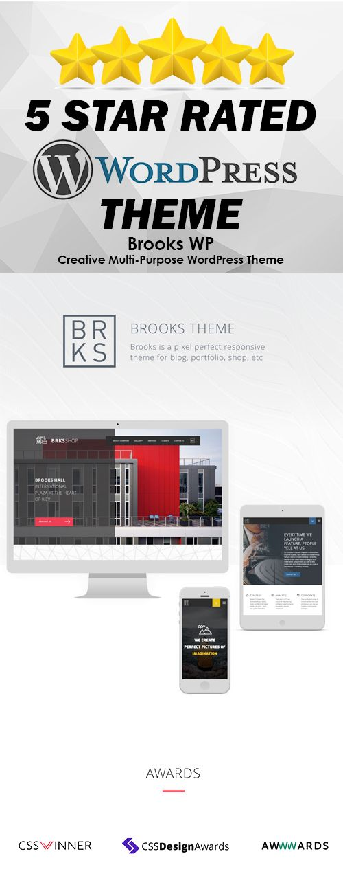 BROOKS is a perfect pixel responsive theme for blog, portfolio, shop, etc. It…