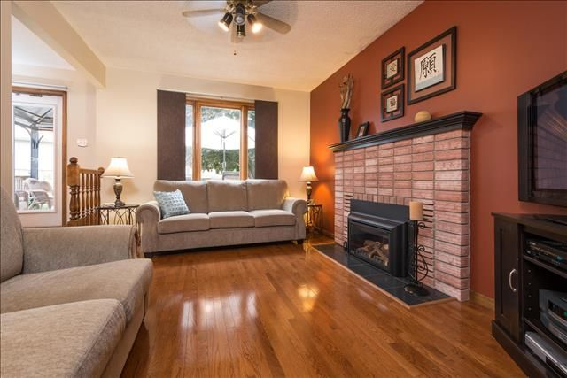 Family Room with Gas Fireplace and Hardwood floors
