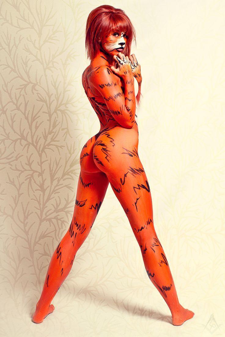 Erotic furries body paint