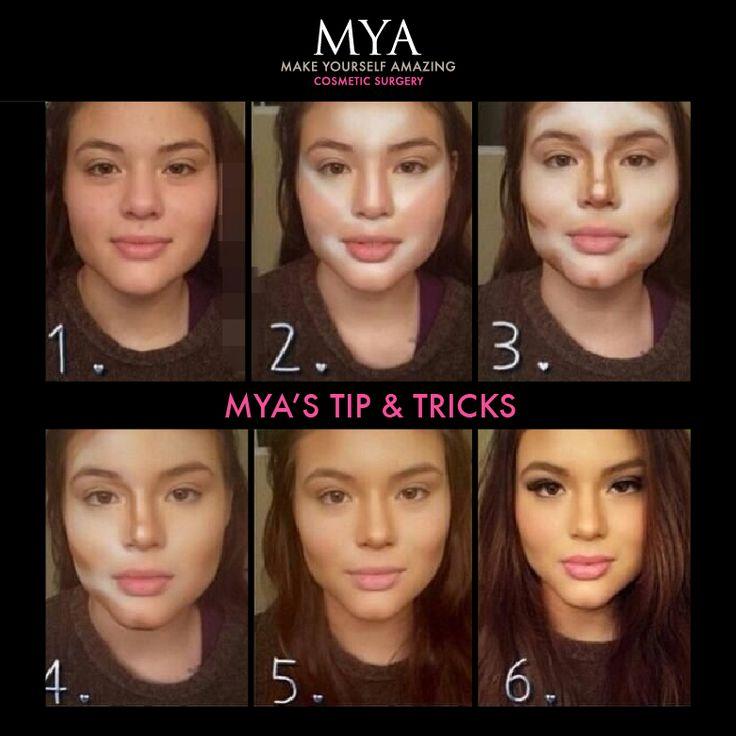 regular makeup vs contouring