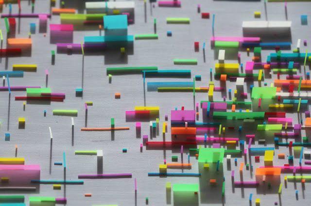 Mondrian Inspired Post-It Note Creations by Gabriel De La Mora | Junkculture