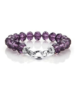 Kagi Jewellery. GOOSEBERRY Bracelet. Hand-faceted egg-shaped Purple Glass Crystals. Birds of Paradise Collection
