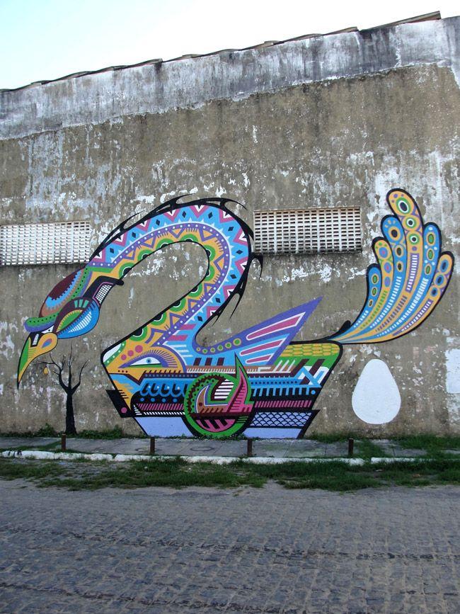 #streetart #Brazil Aracaju City, Brazil - unurth | street art