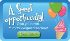 YUM YO'S FROZEN YOGURT FRANCHISES. Cool!