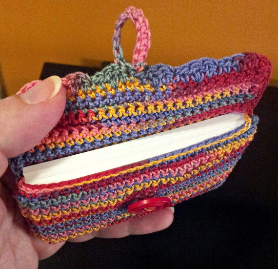 Crocheting Business : Business Card Holder crochet by StringAlongWithMe on Etsy, $6.99