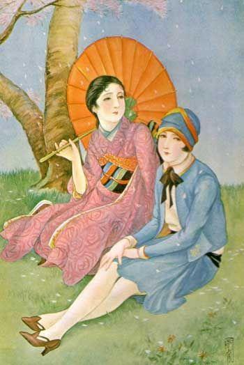 Takabatake Kasho, April 1928, Girls' Illustrated