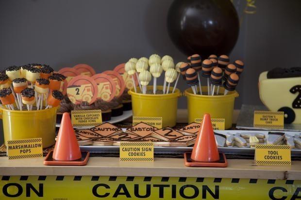 Construction Birthday Party Food Ideas www.spaceshipsandlaserbeams.com