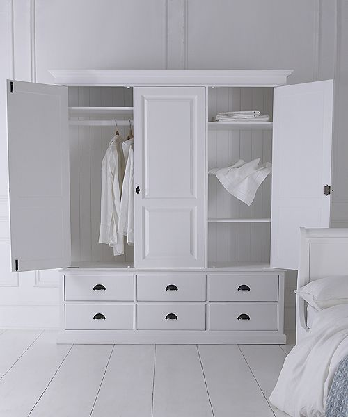 NEW Breton triple wardrobe with six drawers - painted to order