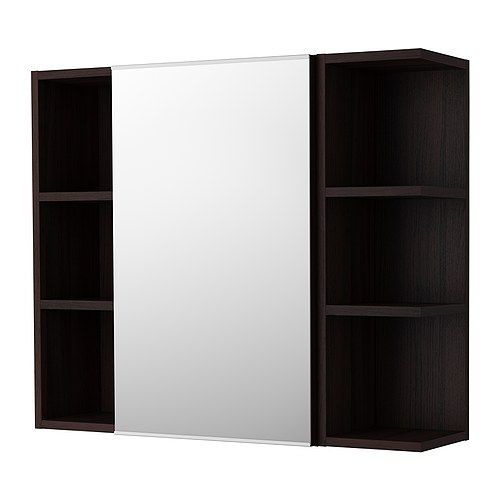 LILLÅNGEN Mirror cabinet 1 door/2 end units IKEA The open shelf unit is perfect for perfume bottles or other things that you use frequently.