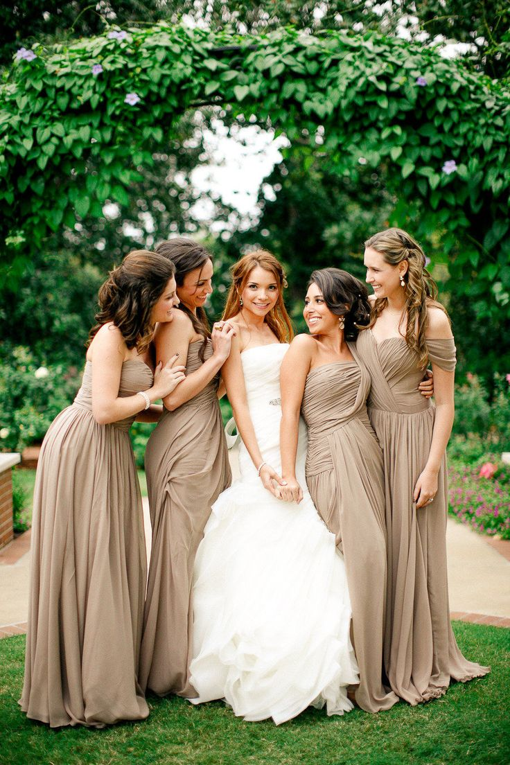 98 best best dressed images on pinterest marriage wedding like the colors dallas arboretum wedding from apryl ann photography taupe bridesmaids ombrellifo Choice Image