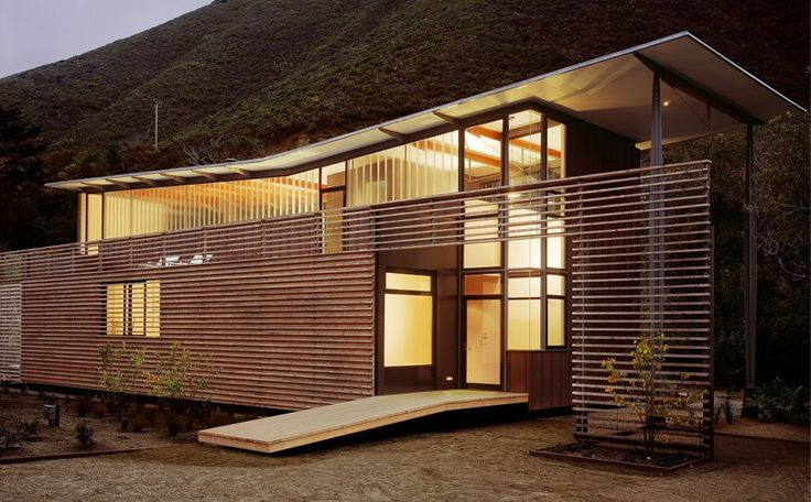 , by Fougeron Architecture. simple modern slim house wood siding ...