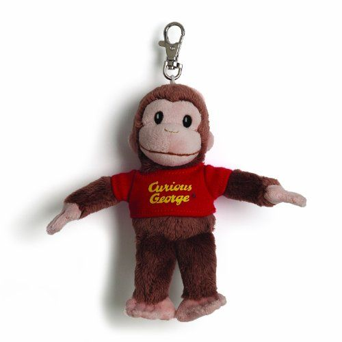 Gund Curious George Backpack Clip Stuffed Animal