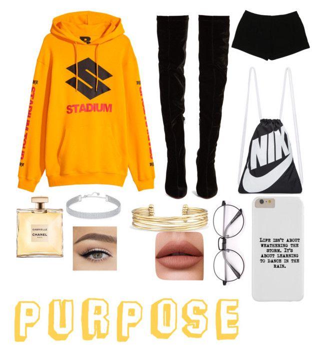 """Purpose"" by malumasbaby on Polyvore featuring Mode, Christian Louboutin, Express, NIKE, Stella & Dot, Swarovski und belieber"