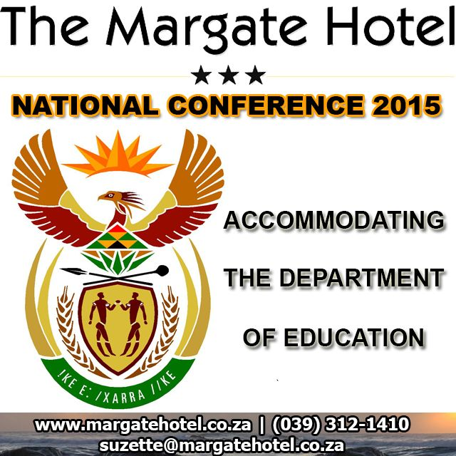 @margatehotelkzn accommodated the @DBE_SA 2015 National Conference #MARGATEconference http://bit.ly/1KLUoC3