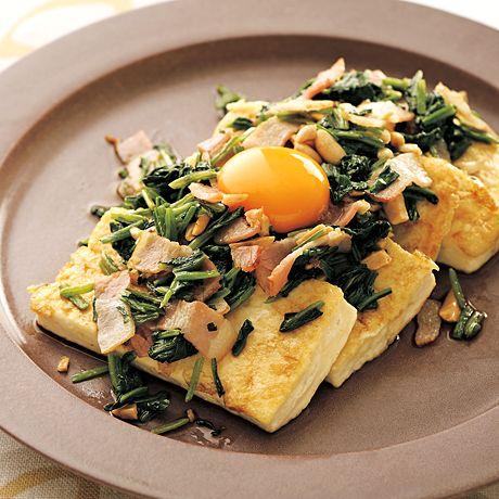 豆腐ステーキ ほうれん草ソースがけ | 柳原るりさんのステーキの料理レシピ | プロの簡単料理レシピはレタスクラブネット