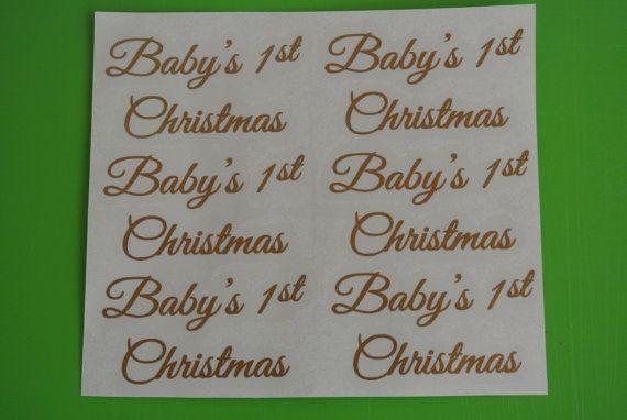 6 x Die Cut Baby's 1st Christmas Vinyl Decals by PrintedRibbon4U