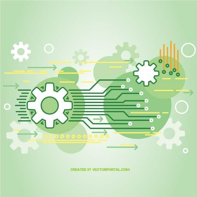 Technology background vector.
