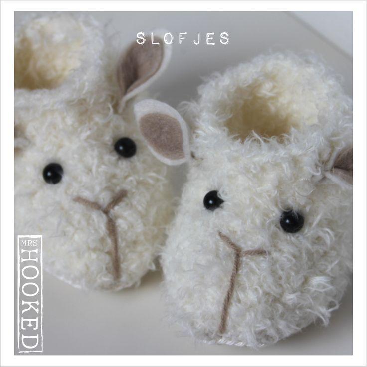 Baby slofjes - Haken - Haakpatroon - Rico Fashion Fur
