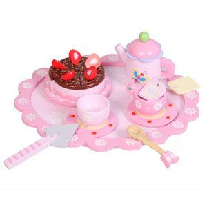 This gorgeous Wooden tea Set suits any tea party! So much FUN and great for imaginative play. For more information follow this link http://www.shellstreasures.com.au/#!product/prd1/1153753321/tea-party-tray-set