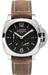 Panerai Luminor 1950 Power Reserve Automatic Black Dial Brown Leather Mens Watch PAM00537