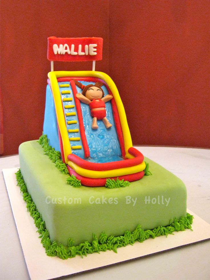 Inflatable Water Slide Cake