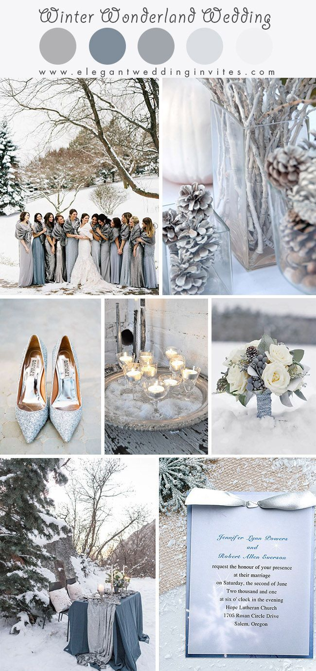 Glimmering Winter Wonderland Wedding Ideas In Shades Of Silver And