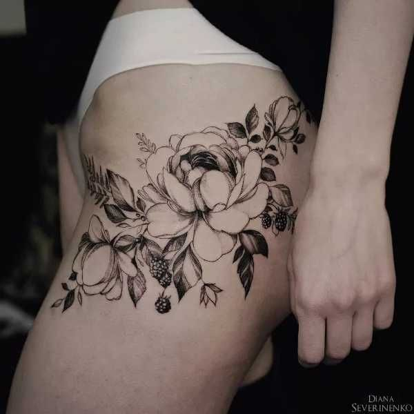 blumen tattoos mit diana severinenko tattoo flowers. Black Bedroom Furniture Sets. Home Design Ideas