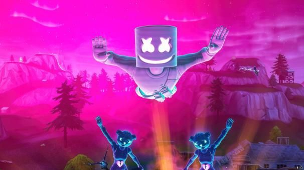 Fortnite Hd Marshmello Concert Wallpapers Desktop Pictures