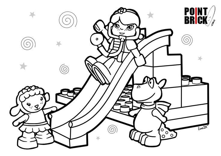 disegni da colorare lego duplo disney dottoressa peluche