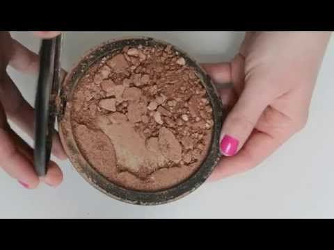 DIY - How To Fix Broken Powder - Bronzers, Shadows, Powders - YouTube