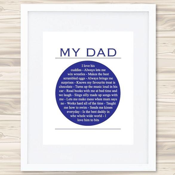 My dad print